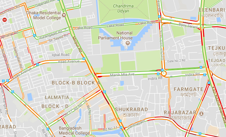 Google traffic launched in Dhaka