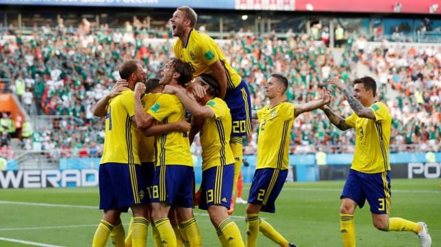 Sweden beat Mexico to Group F champions spot 9